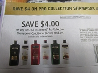 $4/2 Tresemme Pro Collection Shampoo or Conditioner 22oz 4/28/2019