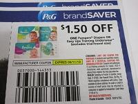$1.50/1 Pampers Diapers or Easy Ups Training Underwear 5/11/2019