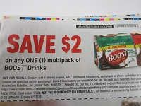 $2/1 Boost Multipack Drinks 6/23/2019