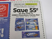 $.55/1 Oreo Chocolate Candy Bar 6/15/2019