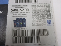$2/2 Suave Men Hair Care 5/26/2019