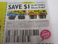 $1/1 Pearls Olives to Go DND 6/15/2019