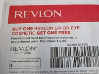 Buy 1 Revlon Lip or Eye Cosmetic Get 1 FREE 11/2/2019