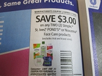 $3/2 Simple, St Ives Ponds's or Noxzema Face Care 1/19/2020