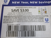 $3/2 Dove Hair Care 1/19/2020
