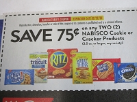 $.75/2 Nabisco Cookies or Crackers 2/22/2020