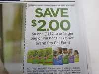$2/1 Purina Cat Chow 12lbs+ Dry Cat Food 9/26/2020