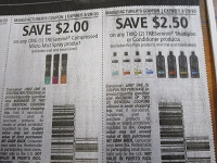 $2/1 Tresemme Compressed Micro Mist Spray + $2.50/1 Tresemme Shampoo or Conditioner 3/29/2020