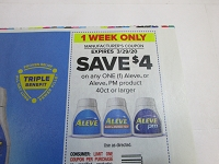 $4/1 Aleve or Aleve PM 40ct+ 3/29/2020