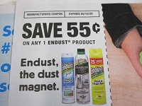 15 Coupons $.55/1 Endust 5/10/2020