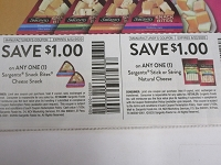 $1/1 Sargento Snack Bites Cheese Snack + $1/1 Sargento Stick or String Natural Cheese 6/22/2020
