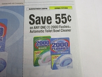 $.55/1 2000 Flushes Automatic Toilet Bowl Cleaner 7/27/2020