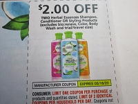 $2/2 Herbal Essences Shampoo Conditioner or Styling 5/16/2020