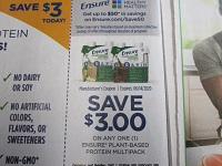 $3/1 Ensure Plant Based Protein Multipack 6/14/2020