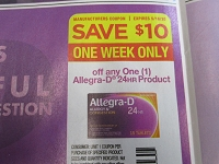 $10/1 Allegra D 24Hr Product 5/16/2020