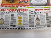 $1/4 Sweet Baby Ray's Barbecue Sauce + $1/2 Marinade, Wing, Hot or Dipping + $1/1 Ray's No Sugar Added 6/28/2020