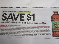 $1/2 Pine Sol Multi Surface Cleaner 40oz 6/28/2020