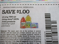 $1/2 Juicy Juice 100% Juice Products 6/29/2020