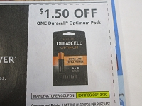 $1.50/1 Duracell Optimum Pack 6/13/2020