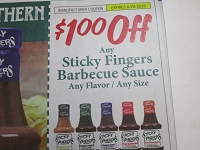 $1/1 Sticky Fingers Barbecue Sauce 6/28/2020