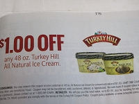$1/1 Turkey Hill All Natural Ice Cream 48oz 6/27/2020