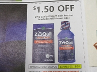 $1.50/1 ZzzQuil Night Pain 7/18/2020