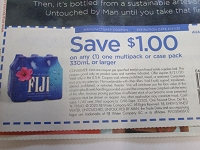$1/1 Fiji Water Multipack or Case pack 330ml 8/21/2020
