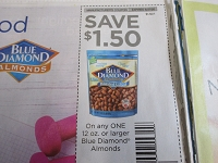 $1.50/1 12oz Blue Diamond Almonds 8/27/2020