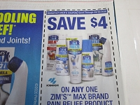 $4/1 Zim's Max Pain Relief Product 9/30/2020