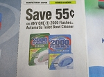 $.55/1 2000 Flushes Automatic Toilet Bowl Cleaner 10/18/2020