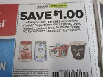 $1/10 cups Yoplait Yogurt 9/26/2020