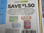 $1.50/2 Yoplait Yogurt Multipacks 9/26/2020