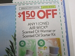 $1.50/1 Air Wick Scented Oil Warmer or Starter Kit 8/30/2020