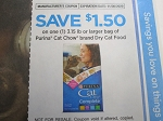 $1.50/1 3.15lbs Purina Cat Chow Dry Cat Food 11/30/2020