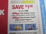 $1/2 Kellogg's Rice Krispies Treats or Snap Crackle Poppers 10/11/2020