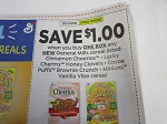 $1/1 General Mills Cereal Cinnamon Cheerios Luck Charms Honey Clovers 10/24/2020
