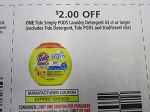 $2/1 Tide Simply PODS Laundry Detergent 43ct 10/3/2020