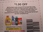 $1/1 Tide Simply Laundry Detergent or Simply Pods 32ct or Smaller 10/3/2020