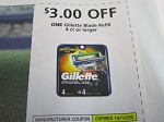 $3/1 Gillette Blade Refill 4ct 10/10/2020