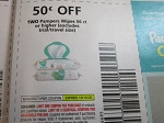 $.50/2 Pampers Wipes 56ct + 10/10/2020
