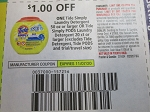 $1/1 Tide Simply Laundry Detergent 50oz or Pods 20ct 11/7/2020