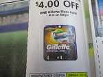 $4/1 Gillette Blade Refill 4ct 10/31/2020