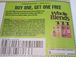 Buy 1 Get 1 FREE Garnier Whole Blends Sulfate Free Remedy or Miracle Treatment 3/27/2021