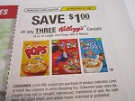 15 Coupons $1/3 Kellogg's Cereals 5/23/2021