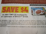 15 Coupons $4/2 Boost Drink Canister or Multipacks 6/6/2021