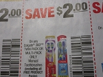 $2/1 Colgate 360 Twin or Multi Pack Toothbrush 3/3/2018