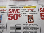 $.50/1 Kellogg's Chocolate Frosted Flakes Cereal 8/9/2018