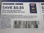 $.55/2 Barilla Blue Box Pasta 11/4/2018