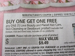 Buy 1 Get 1 Free Love Beauty and Planet Hair Care Skin Cleansing or Deodorant DND 10/6/2018