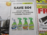 $.50/1 Fantastic All Purpose Cleaner 10/20/2018